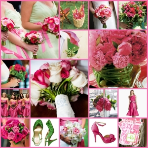 19 keentobeseen hot pink green watermelon wedding